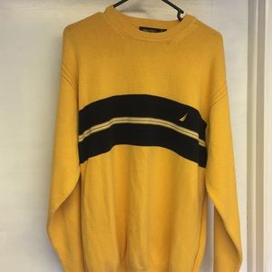 Men's Nautica Yellow Sweater Size XL
